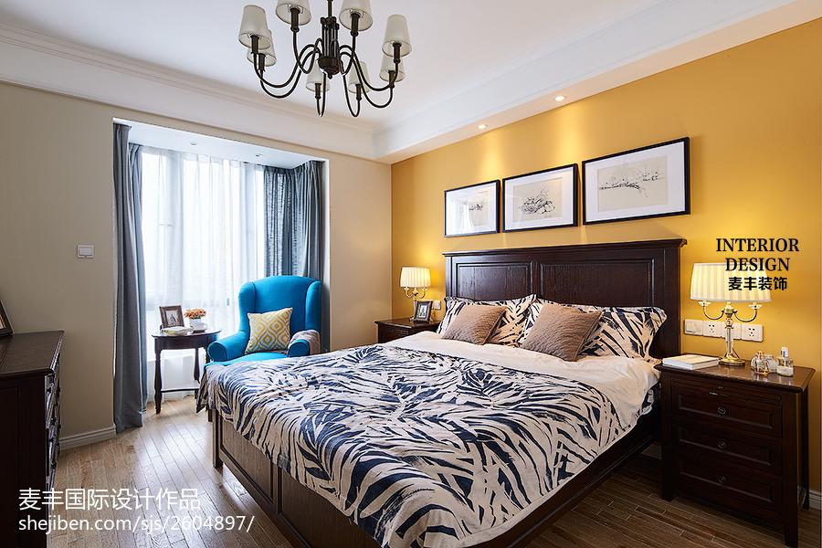 时尚美式风格家居卧室装修
