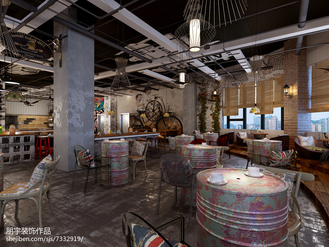 现代风居家餐厅效果图