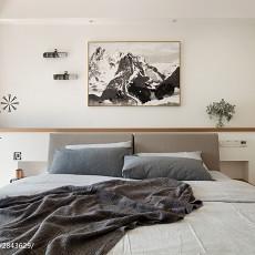 2018面积95平现代三居卧室装修图