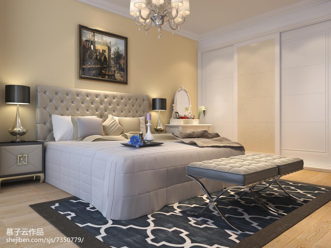 精选面积90平简欧三居卧室装饰图片大全