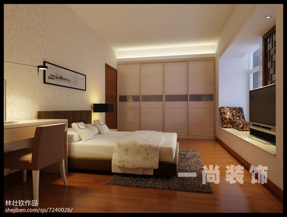 9万打造白色简约风格家居卧室装修效果图大全2014图片