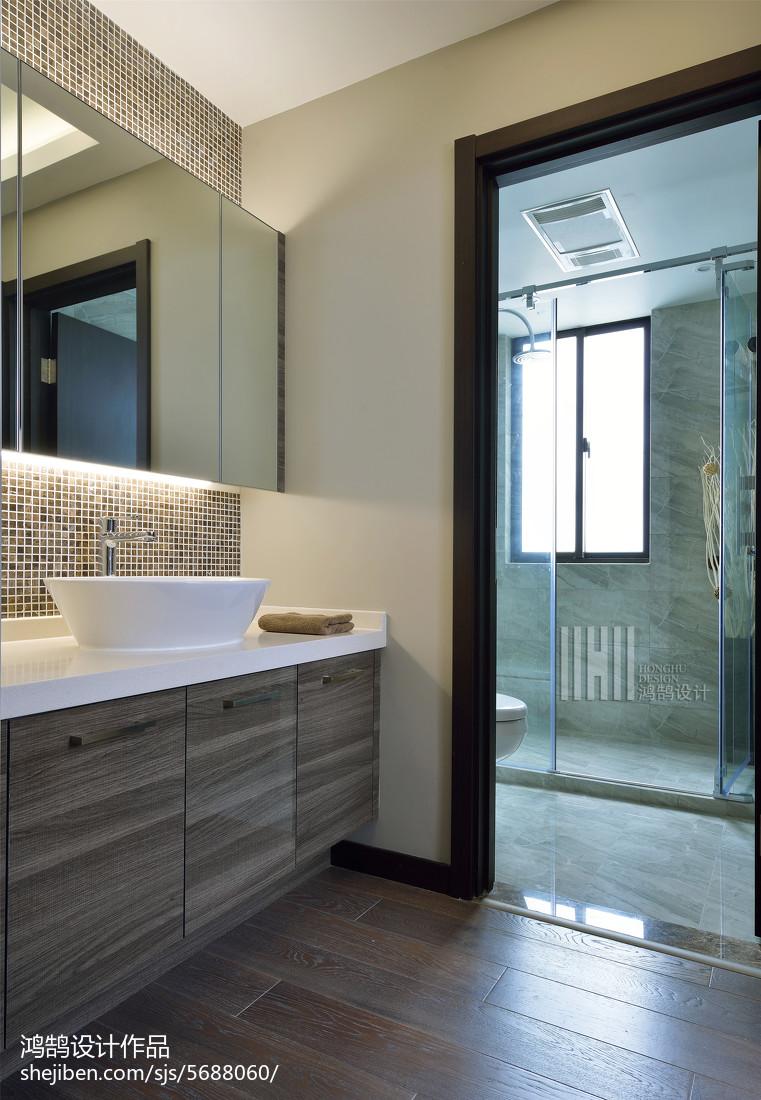 精美100平米三居卫生间简约装修效果图片欣赏