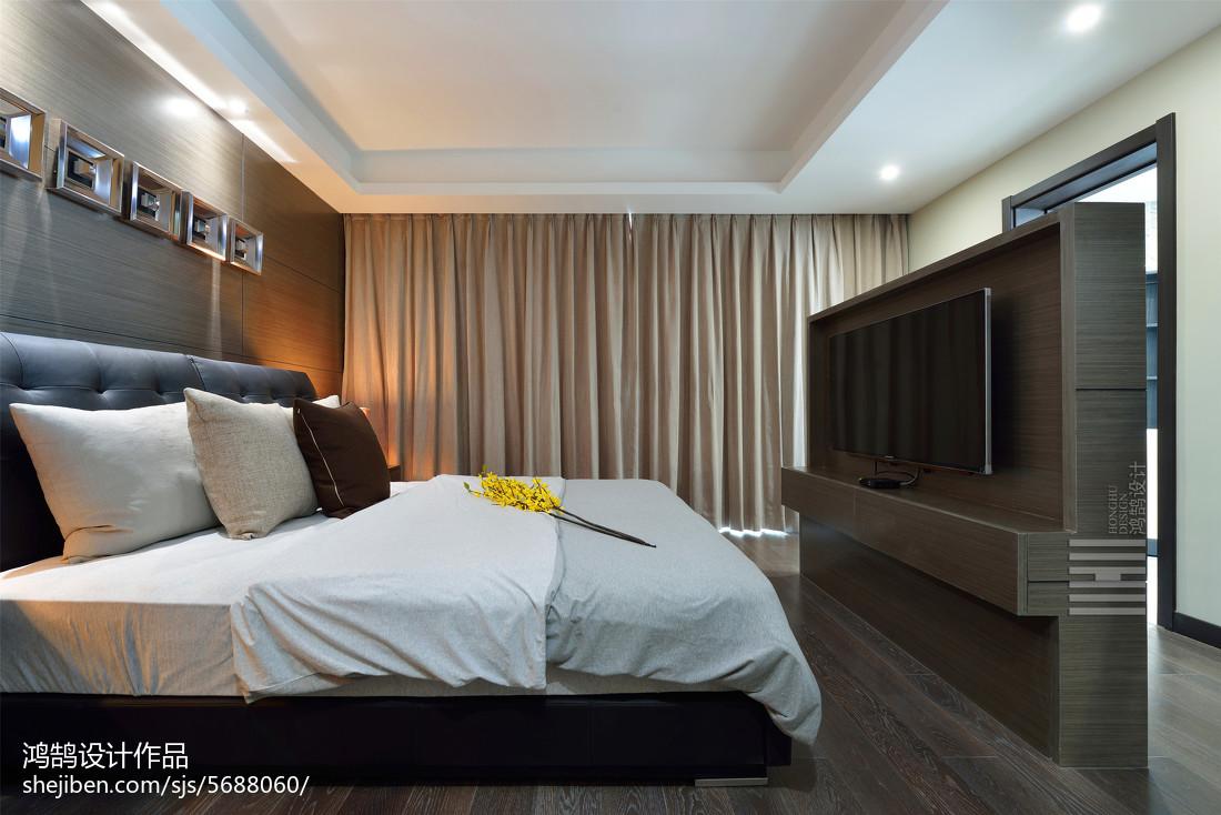 精美93平米三居卧室简约装饰图片大全