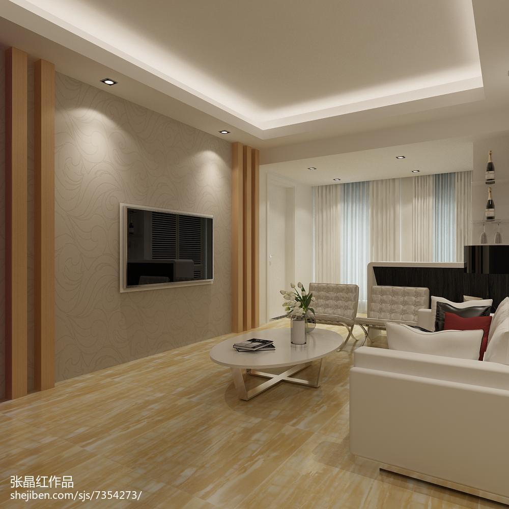 85平米简约小户型客厅装修设计效果图片大全