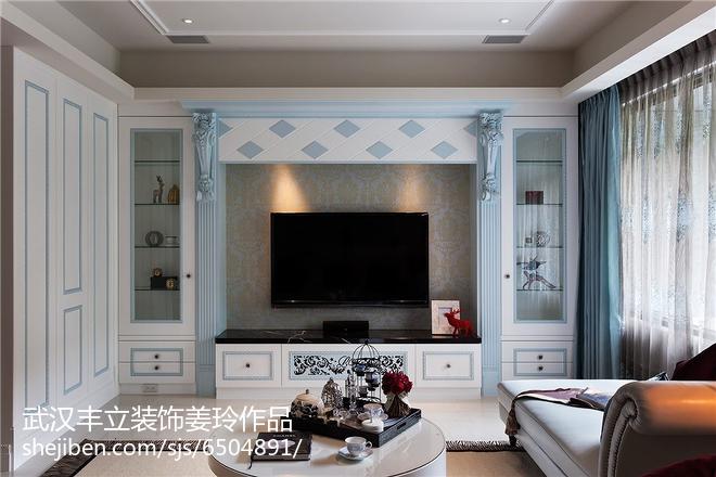舒适时尚现代电视背景墙装修效果图