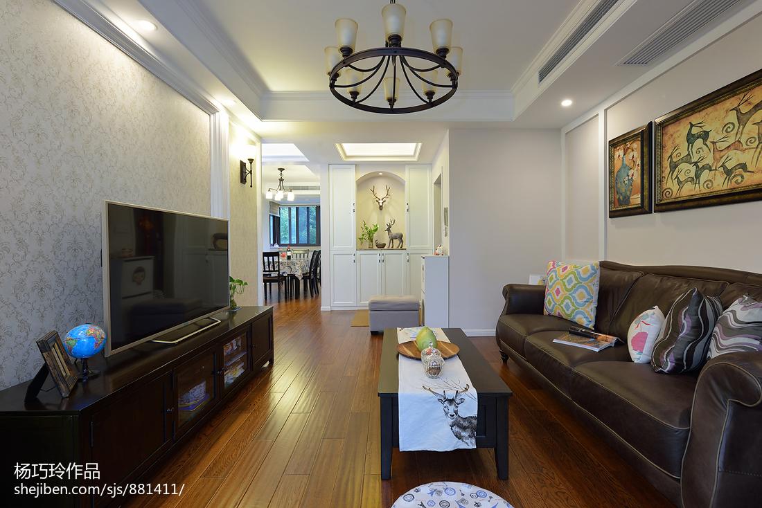 精美80平米二居客厅美式欣赏图片大全