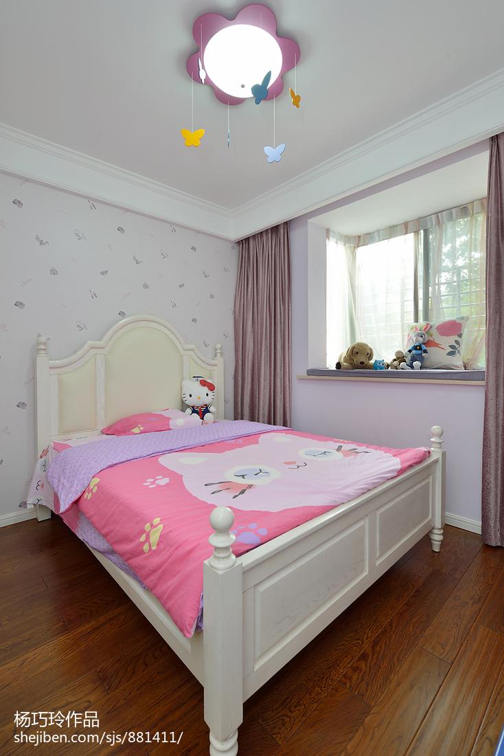 热门81平米二居儿童房美式装饰图