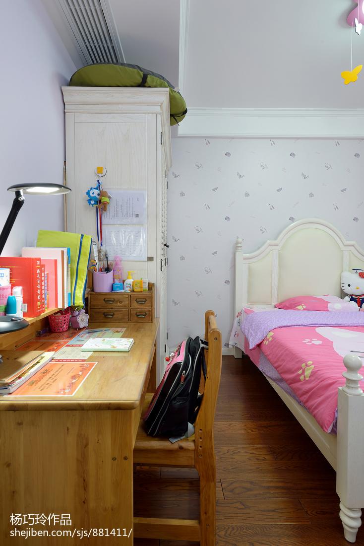 2018精选面积83平美式二居儿童房效果图片欣赏