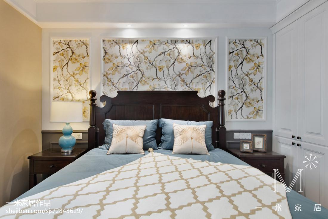 201886平米二居卧室美式装修实景图片