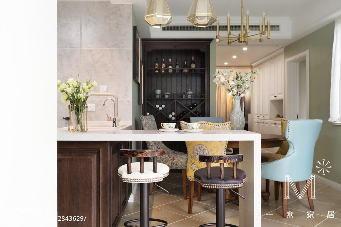 精美面积81平美式二居餐厅装饰图片