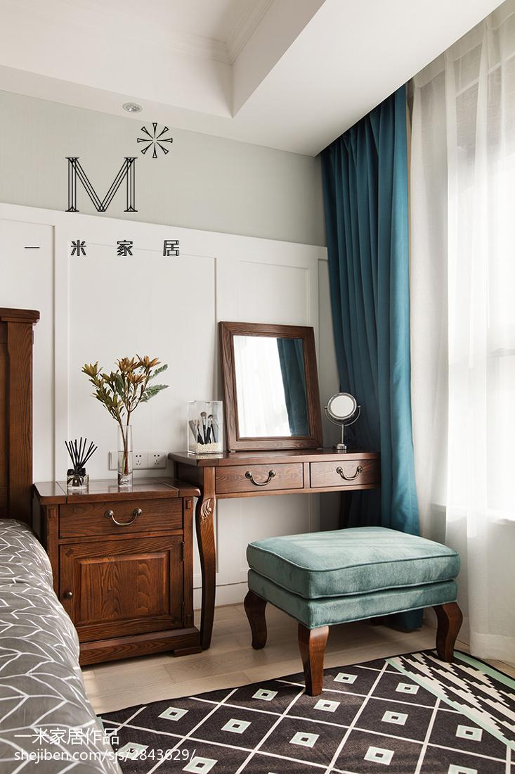 精选101平方三居卧室美式装修设计效果图片