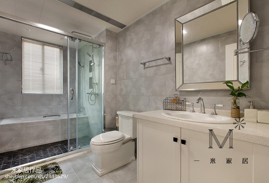 热门102平米三居卫生间美式装修欣赏图片大全