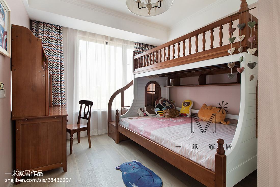 典雅95平美式三居装修设计图
