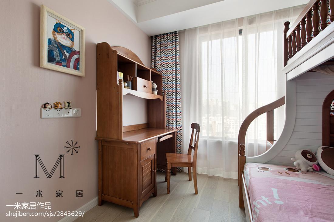 精美92平米三居儿童房美式装饰图片