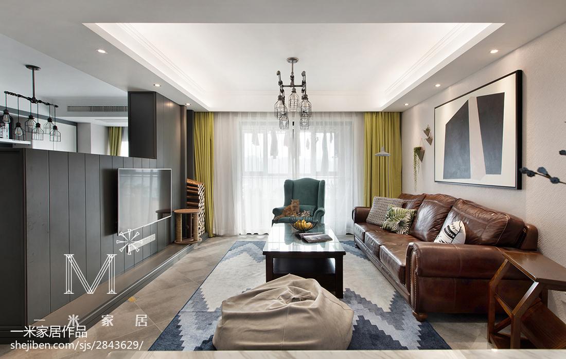 大气121平美式三居装潢图