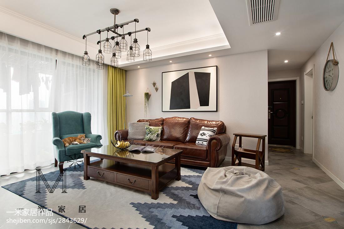 精选95平米三居客厅美式欣赏图片