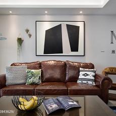 简洁108平美式三居客厅装修美图