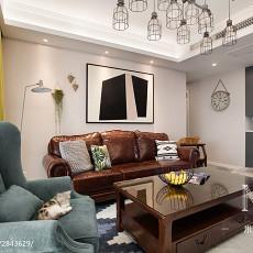 2018精选106平米三居客厅美式效果图