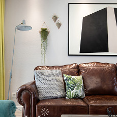 热门面积102平美式三居客厅装修欣赏图片大全