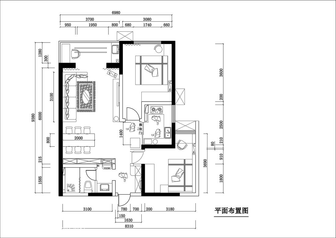 精美75平米简约小户型客厅装修欣赏图片大全