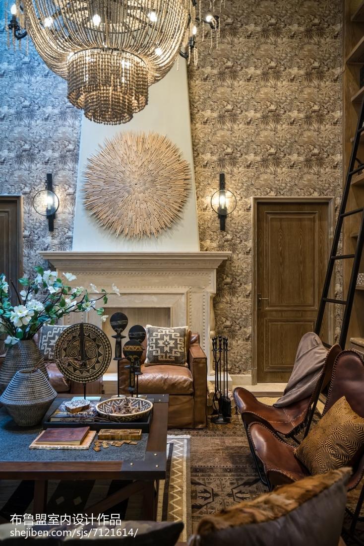 精美面积143平别墅客厅混搭装修实景图片欣赏