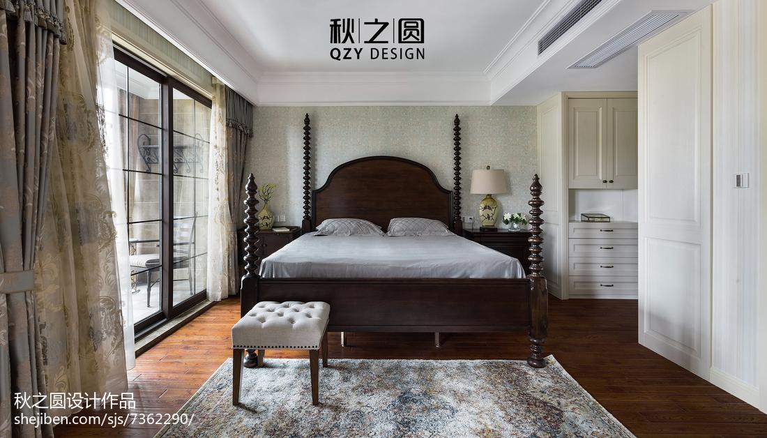 精选115平米美式别墅卧室装修效果图片欣赏