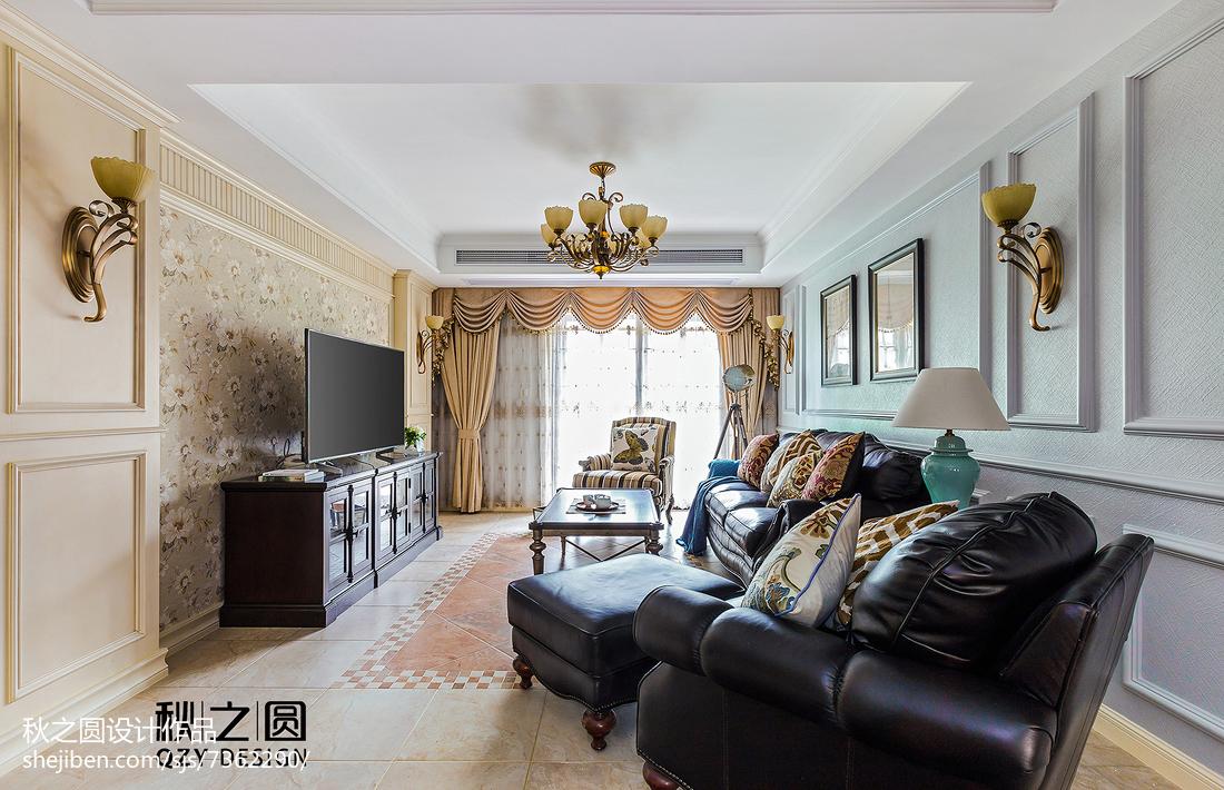 2018精选115平米美式别墅客厅欣赏图片