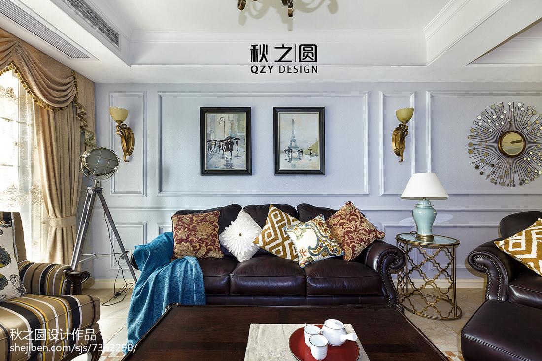 精选面积124平别墅客厅美式实景图片