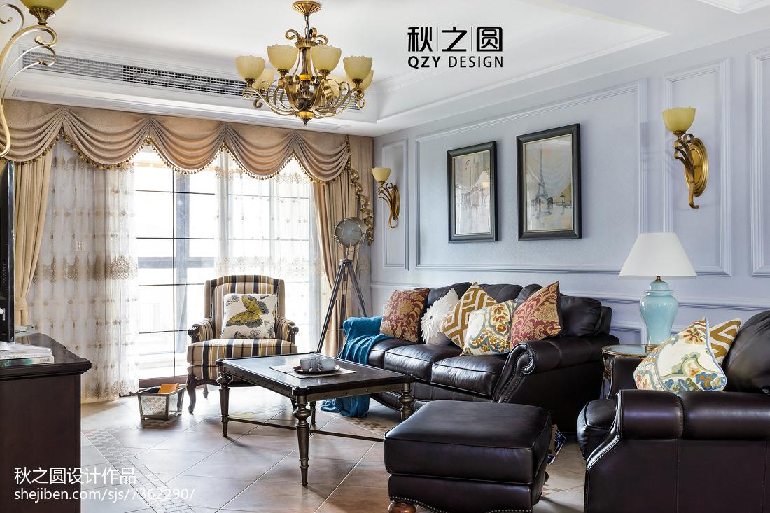 精选面积111平别墅客厅美式装修实景图片欣赏