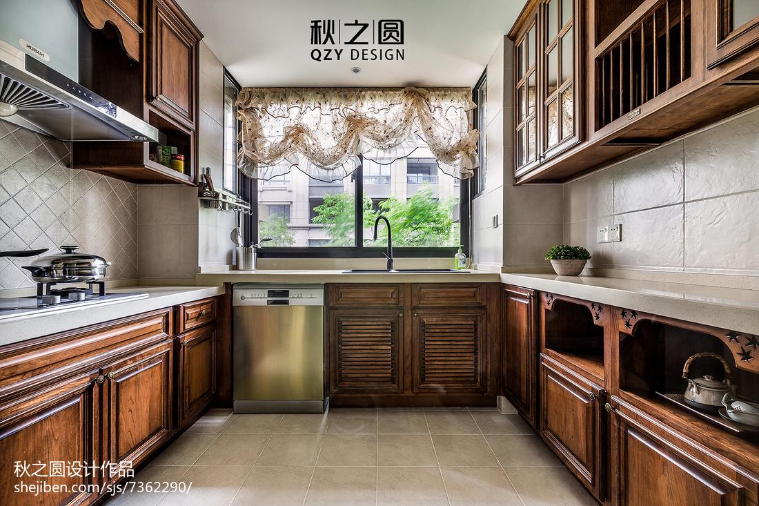 精选面积137平别墅厨房美式实景图