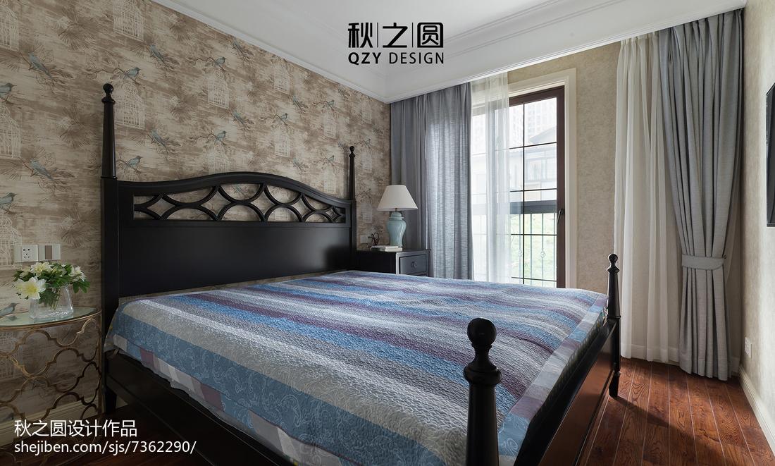 面积115平别墅卧室美式装修实景图片欣赏