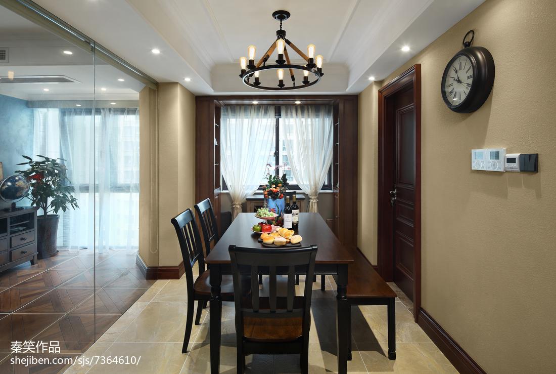 面积125平美式四居餐厅效果图片大全