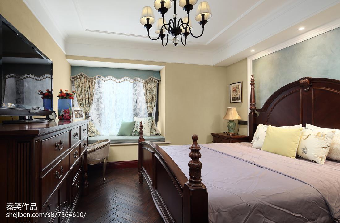 质朴153平美式四居卧室效果图欣赏