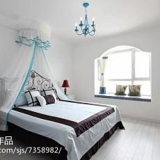 地中海二居卧室实景图片