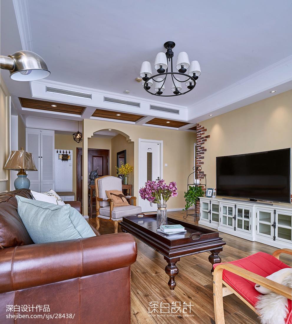 簡單美式風格客廳設計效果圖