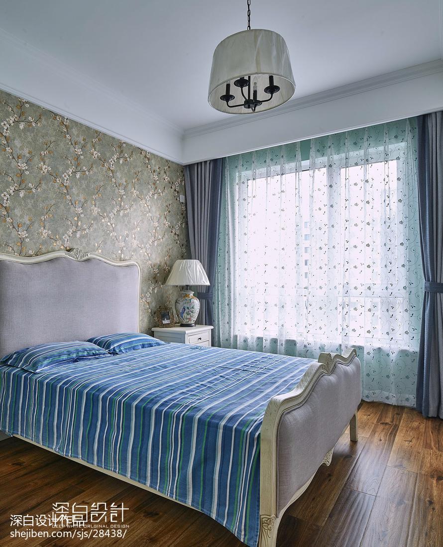 美式風格藍色系臥室裝修