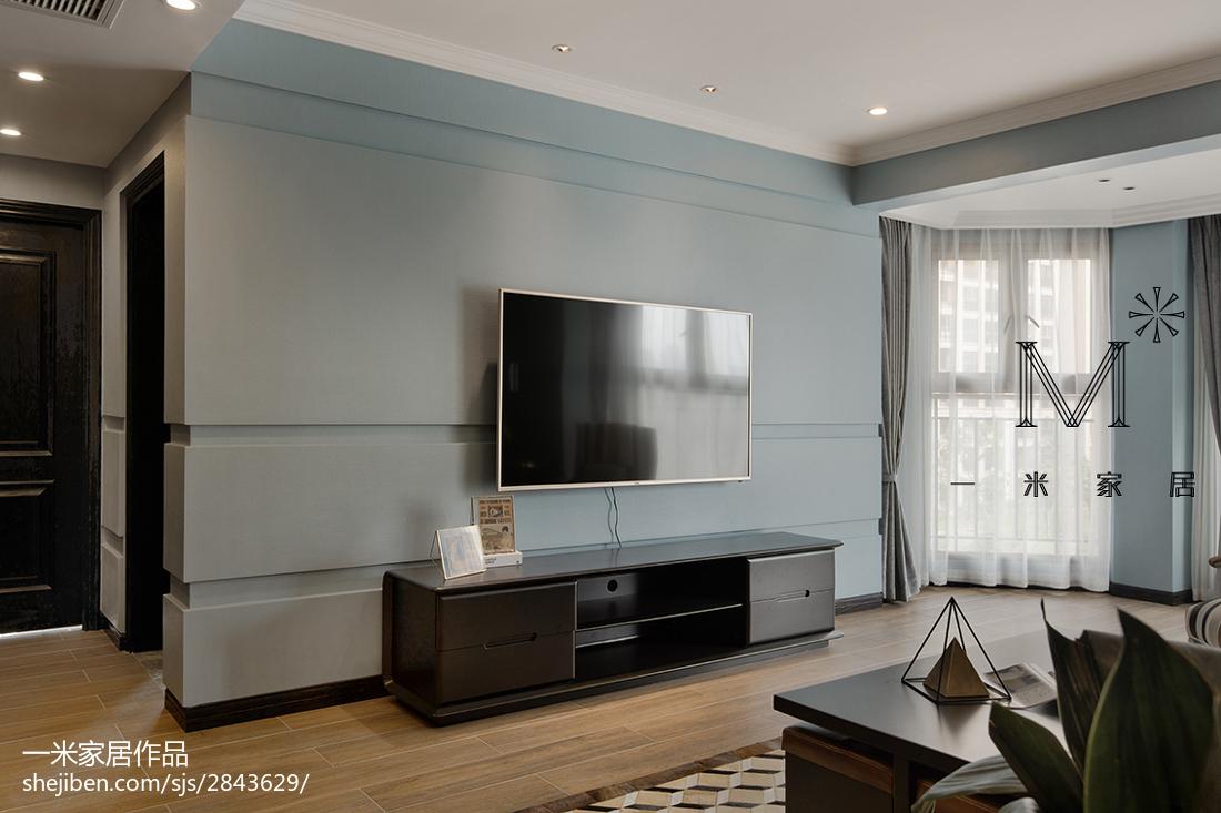 家居現代風格淡藍色背景墻裝修