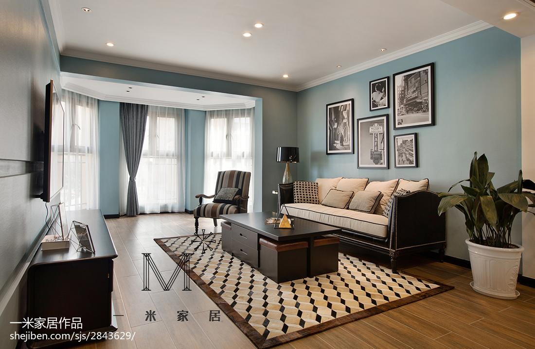 简洁148平现代二居客厅设计案例