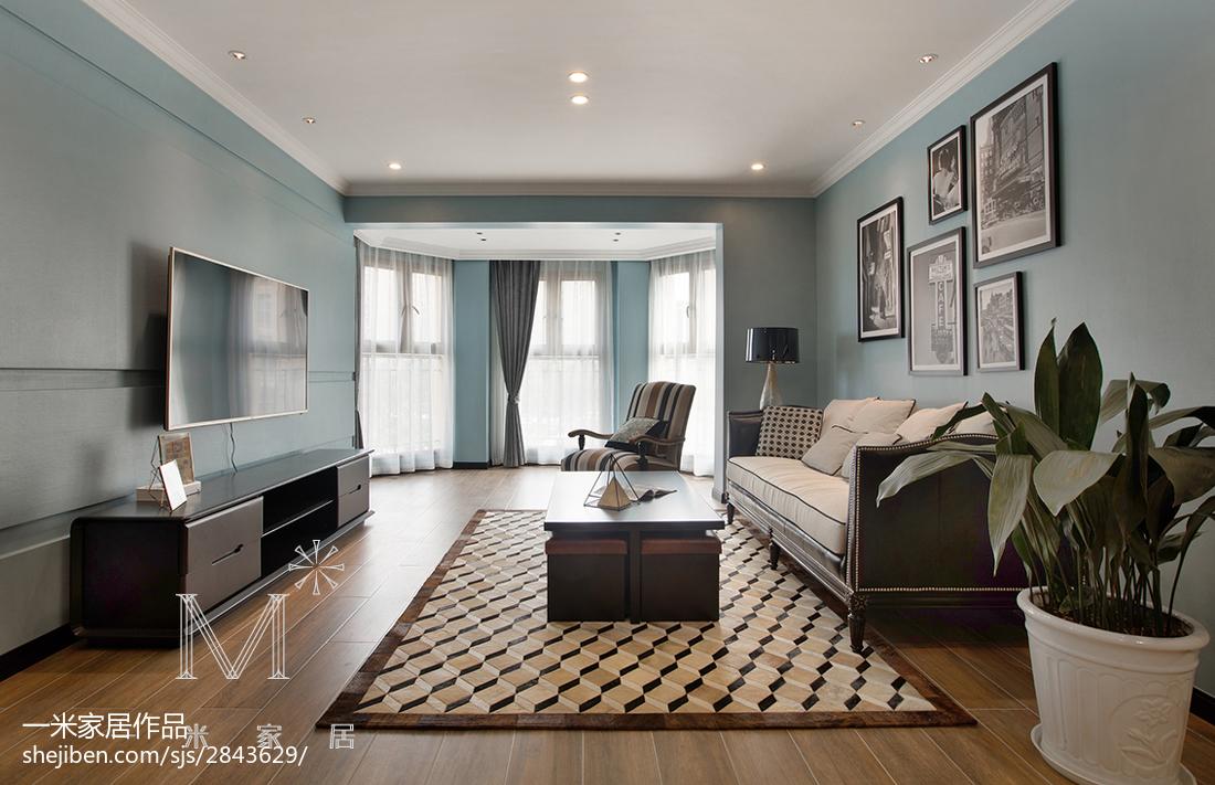 精美78平米二居客厅现代装修图片欣赏