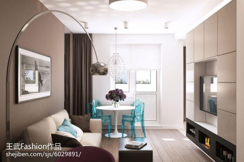 2018精选面积88平小户型客厅简约装修效果图片大全
