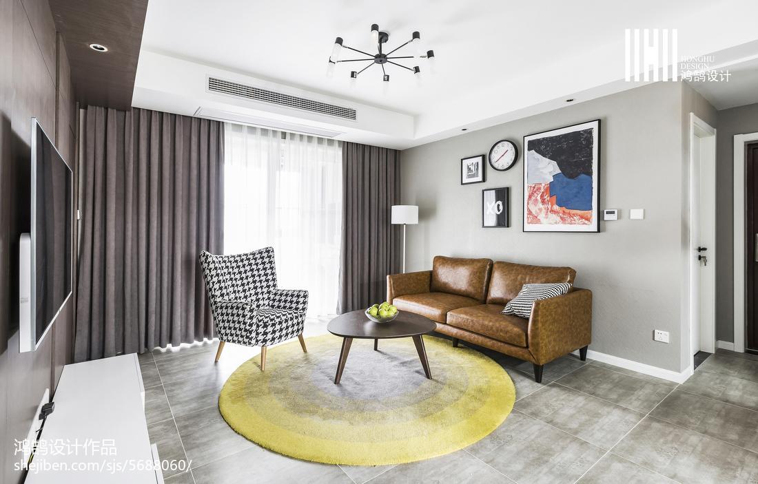 2018精選98平米三居客廳簡約裝修圖片大全