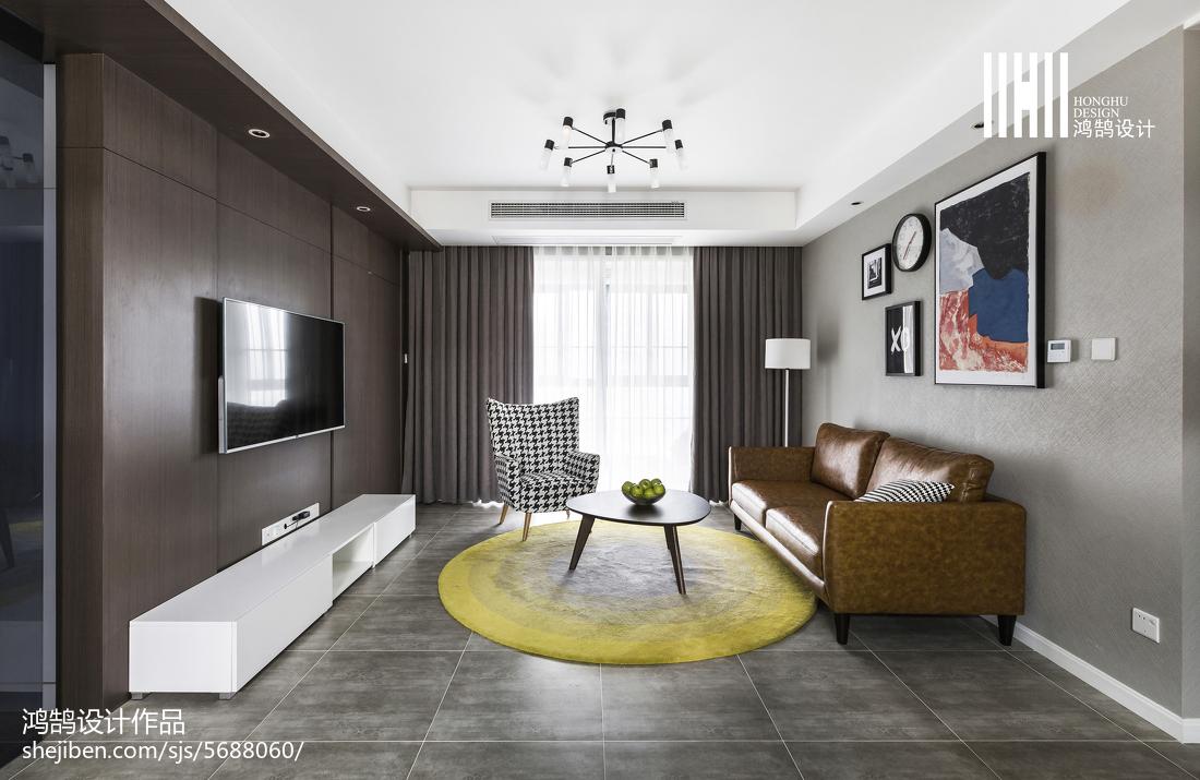 2018面積104平簡約三居客廳裝修圖