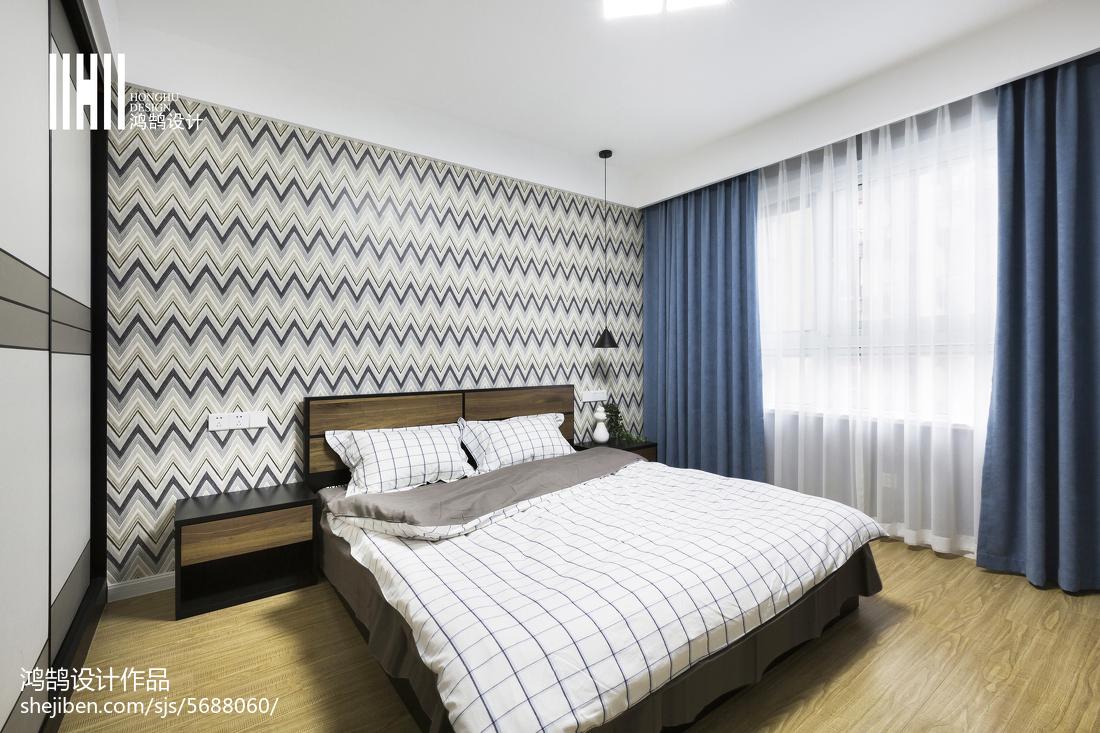 精美96平米三居卧室简约装饰图