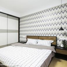 2018精选98平米三居卧室简约装修效果图片欣赏