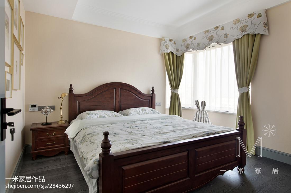 精选面积132平美式四居卧室装修图片欣赏