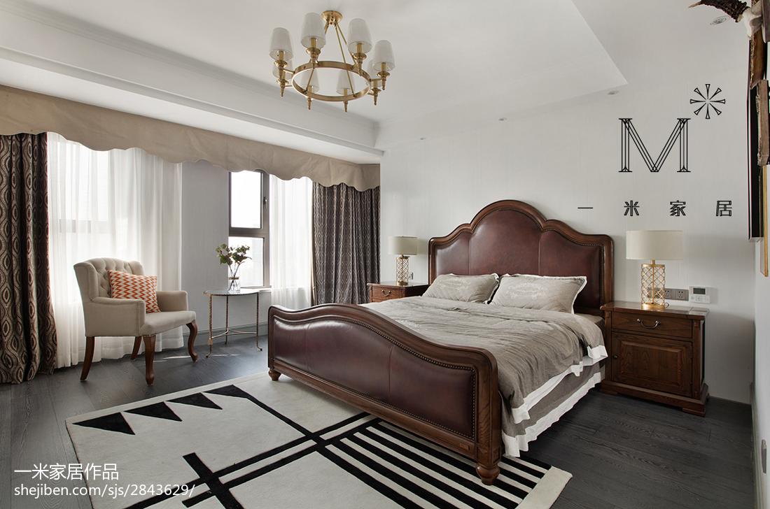 浪漫151平美式四居卧室装饰美图