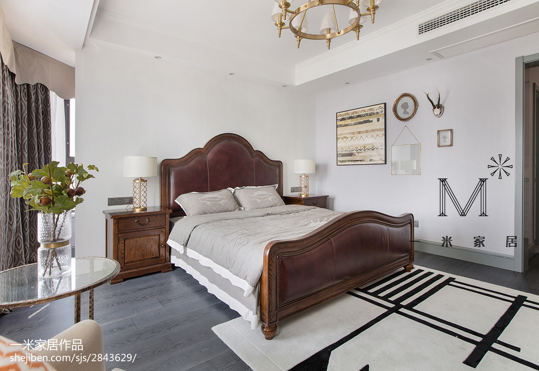 精选135平方四居卧室美式效果图片大全