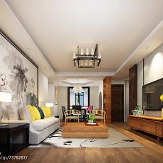 热门107平米三居客厅中式装修效果图