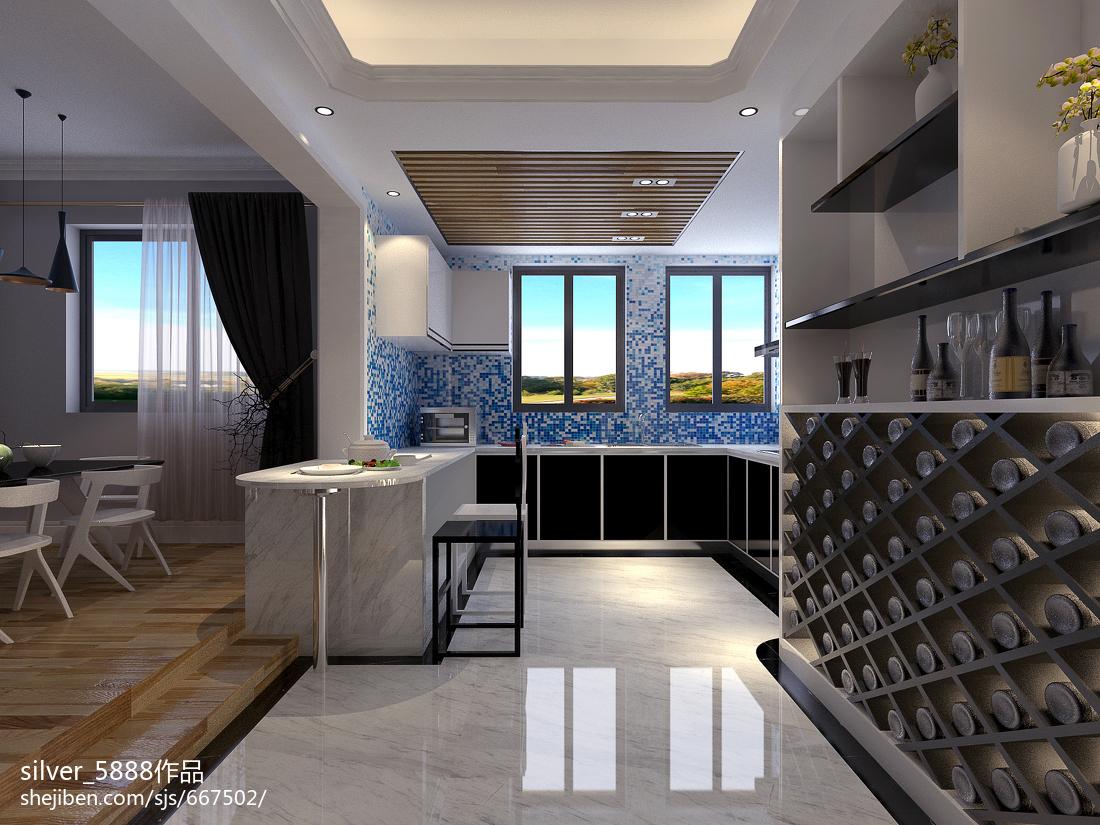 精美大小83平现代二居餐厅效果图片