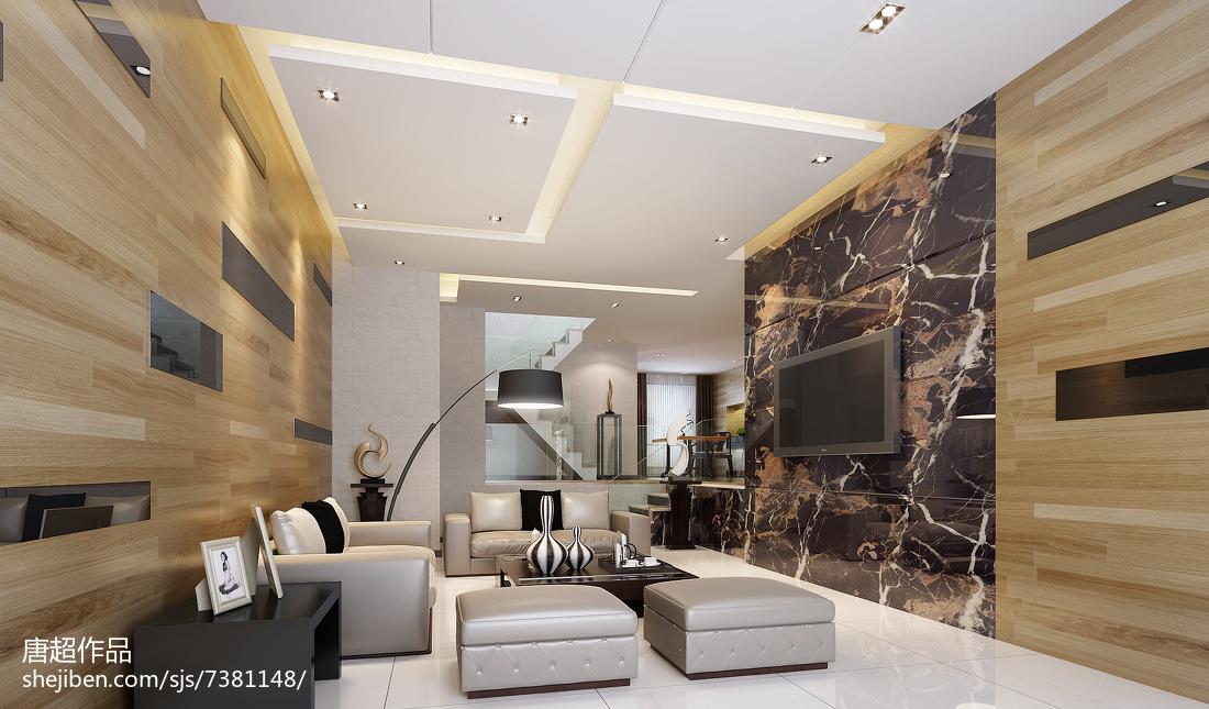 简约复式客厅实景图片欣赏